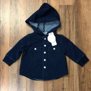 Gymboree Baby Boy Hooded Button Up NWT